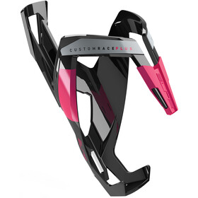 Elite Custom Race Plus Bidonhouder, glossy black/pink